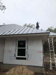 Standing Seam Metal Roof - Gray