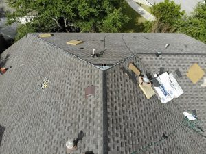Drone Picture Of Roof Installation In Liberty Hill